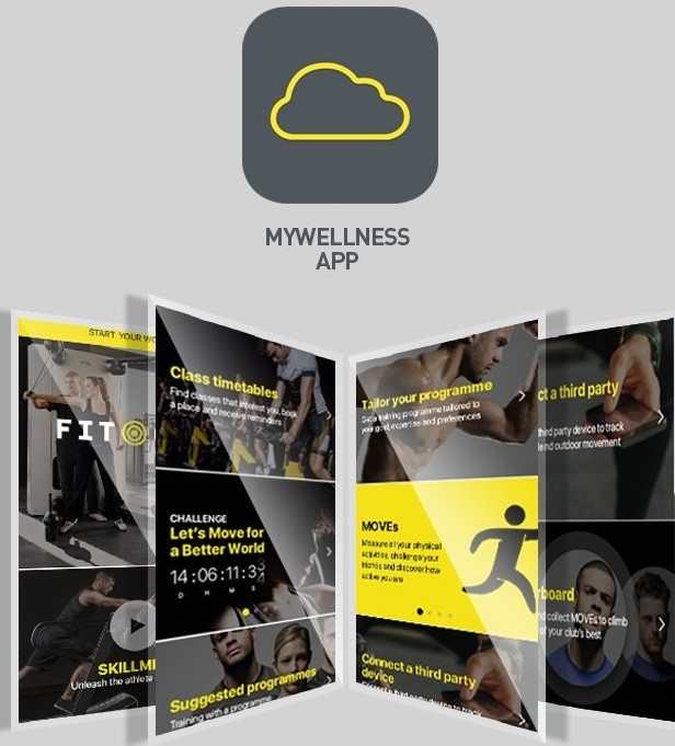 Download de GRATIS MyWelness app Technogym